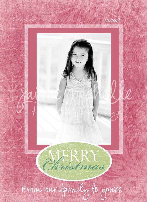 sample holiday card~more available at www.jaimemichelle.com